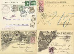 5655147: Switzerland standing Helvetia - Covers bulk lot