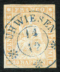 190260: Switzerland, Canton Zurich - Cancellations and seals