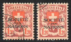 7242: Collections and Lots Switzerland Officals - Bulk lot