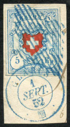 5655117: Rayon I, light-blue, without KE (STONE U) - Official stamps