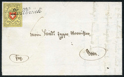 5655106: Rayon II, Yellow, without KE (STONE D) - Cancellations and seals