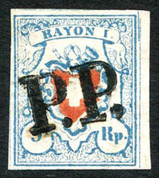 5655111: Rayon I, light-blue, without KE (STONE A2) - Cancellations and seals