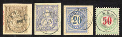 5655146: Switzerland sitting Helvetia perforated - Postage due stamps