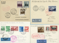 982552: Zeppelin, Zeppelin Mail LZ 127, Liechtenstein Flights