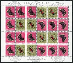 5656: Switzerland Pro Juventute - Se-tenant prints