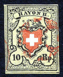 5655101: Rayon II, Yellow, without KE (STONE A 2) - Cancellations and seals