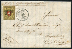5655100: Rayon II, Yellow, without KE (STONE A 1) - Cancellations and seals