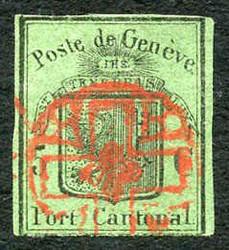 5645: Schweiz Kanton Genf - Stempel