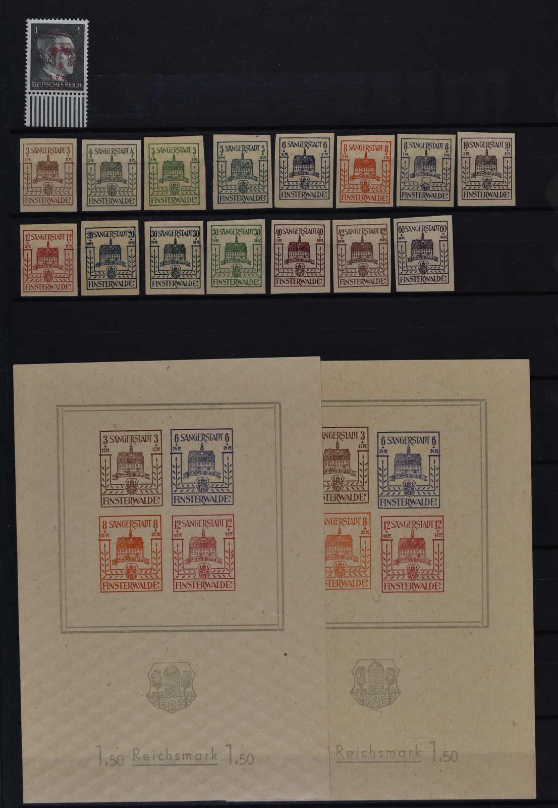Lot 498 - deutschland deutsche lokalausgaben 1945 -  Schwarzenbach Auktion Zurich 67th Auction - Session II
