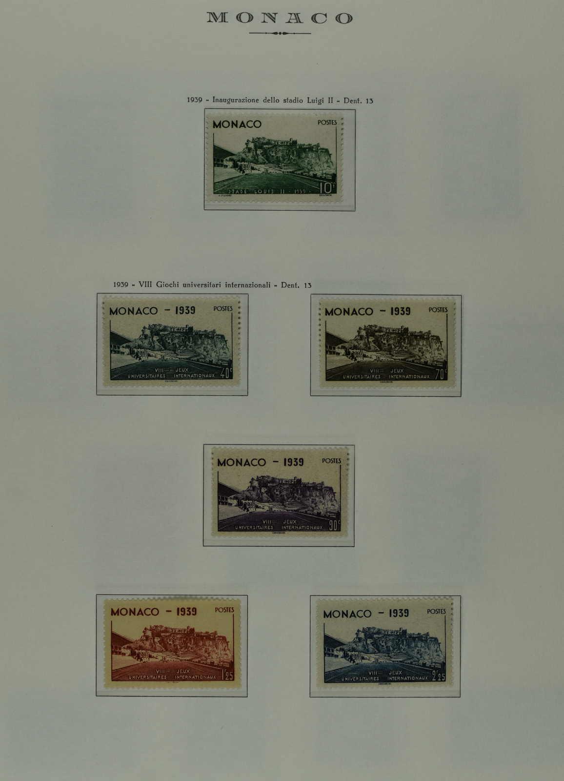 Lot 555 - europa Monaco -  Schwarzenbach Auktion Zurich 67th Auction - Session II