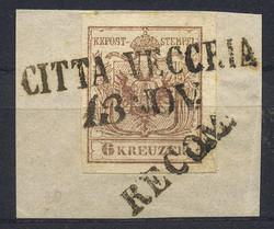 4745355: Austria Cancellations Dalmatia - Cancellations and seals