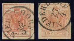 4745402: Austria Cancellations Alto Adige - Cancellations and seals