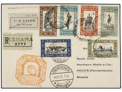 982532: Zeppelin, Zeppelinpost LZ 127, Südamerikafahrten 1935