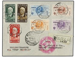 982534: Zeppelin, Zeppelinpost LZ 127, Südamerikafahrten 1936