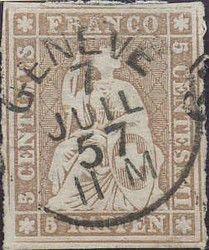 5655134: Strubel 3. Berner Druck dickes Papier - Stempel