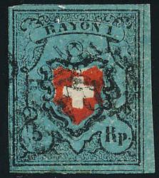 5655096: Rayon I, dunkelblau ohne Kreuzeinfassung - Sammlungen