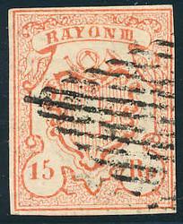5655125: スイス・ラヨン切手・III型・小数字、Rp.単位