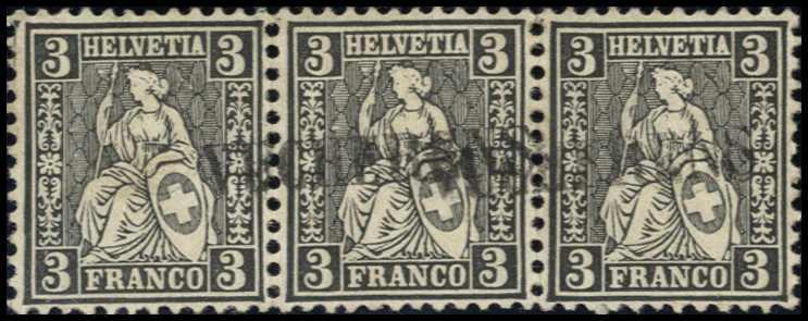 Lot 603 - 1862, SITZENDE HELVETIA  -  MH Marken GmbH Auktion 118