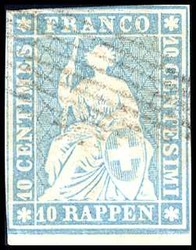 5655133: Strubel 2. Berner Druck mittelstrakes Papier