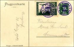 448010: Luftfahrt, Flugpost, Pionierzeit