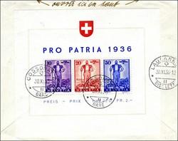 5657: Switzerland Pro Patria - Souvenir / miniature sheetlets