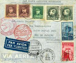 7690: Sammlungen und Posten Zeppelin und Luftpost -