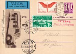 5659: Schweiz Flugpostmarken - Ganzsachen