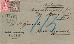 5655146: Schweiz Sitzende Helvetia gezähnt - Briefe Posten