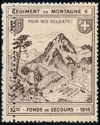 5711: Schweiz Soldatenmarken - Militaerpostmarken