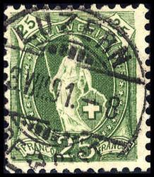 5655147: Schweiz Stehende Helvetia - Stempel