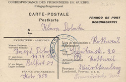 724: Kriegsgefangenenlagerpost - Portofreiheitsmarken