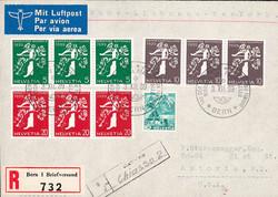 5655154: Schweiz Zusammenhängende - Flugpostmarken
