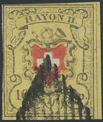 5655108: Rayon II, gelb, ohne Kreuzeinfassung (Diverse) - Stempel