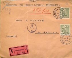 5625100: Schweden 1912-1944 - Stempel