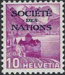 5670: Schweiz Völkerbund SDN - Dienstmarken