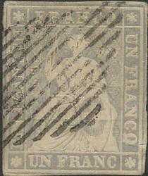 5655133: Strubel 2. Berner Druck mittelstrakes Papier - Stempel