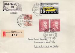 5655151: Schweiz Kehrdruckpaare mit Zwischensteg, ohne Lochung - Rollenmarken