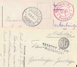 7755: Sammlungen und Posten Feldpost