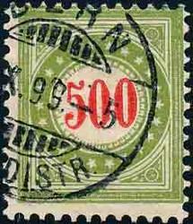 5655216: Schweiz Portomarken 1897/1902, 23.-27. Auflage (Ga+Gb) Type I+II, KZ. II - Stempel