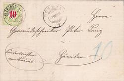 5655206: Schweiz Portomarken 1884/86, 11.-13. Auflage (B), Type II, KZ. I (FASERPAPIER) - Portomarken