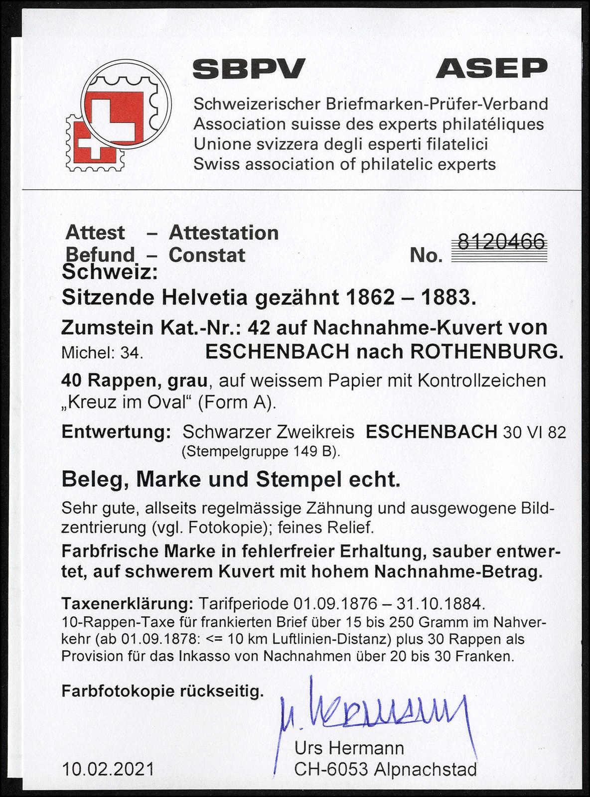Lot 110 - schweiz Schweiz Sitzende Helvetia gezähnt -  Rolli Auctions Auction #68 Day 1