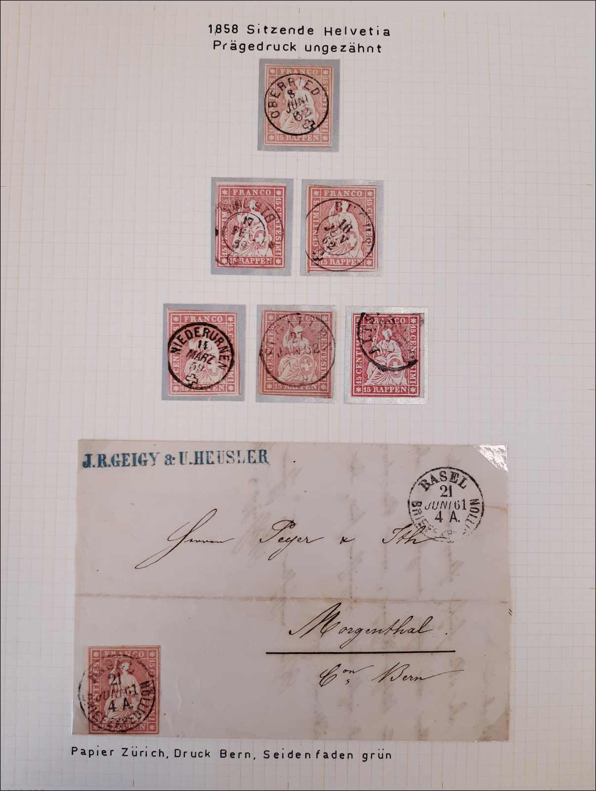 Lot 61 - sammlungen und posten sammlungen und posten altschweiz -  Rolli Auctions Auction #68 Day 1