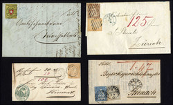 7240: Collections and Lots Switzerland early issues - Covers bulk lot