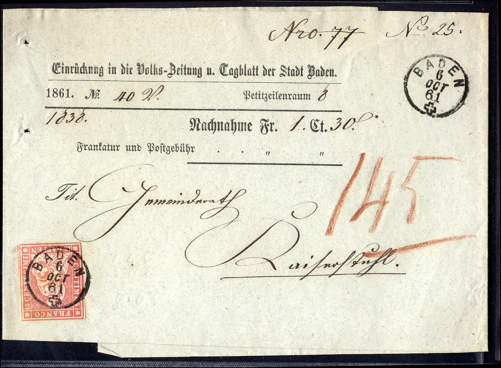 Lot 73 - sammlungen und posten sammlungen und posten altschweiz -  Rolli Auctions Auction #68 Day 1