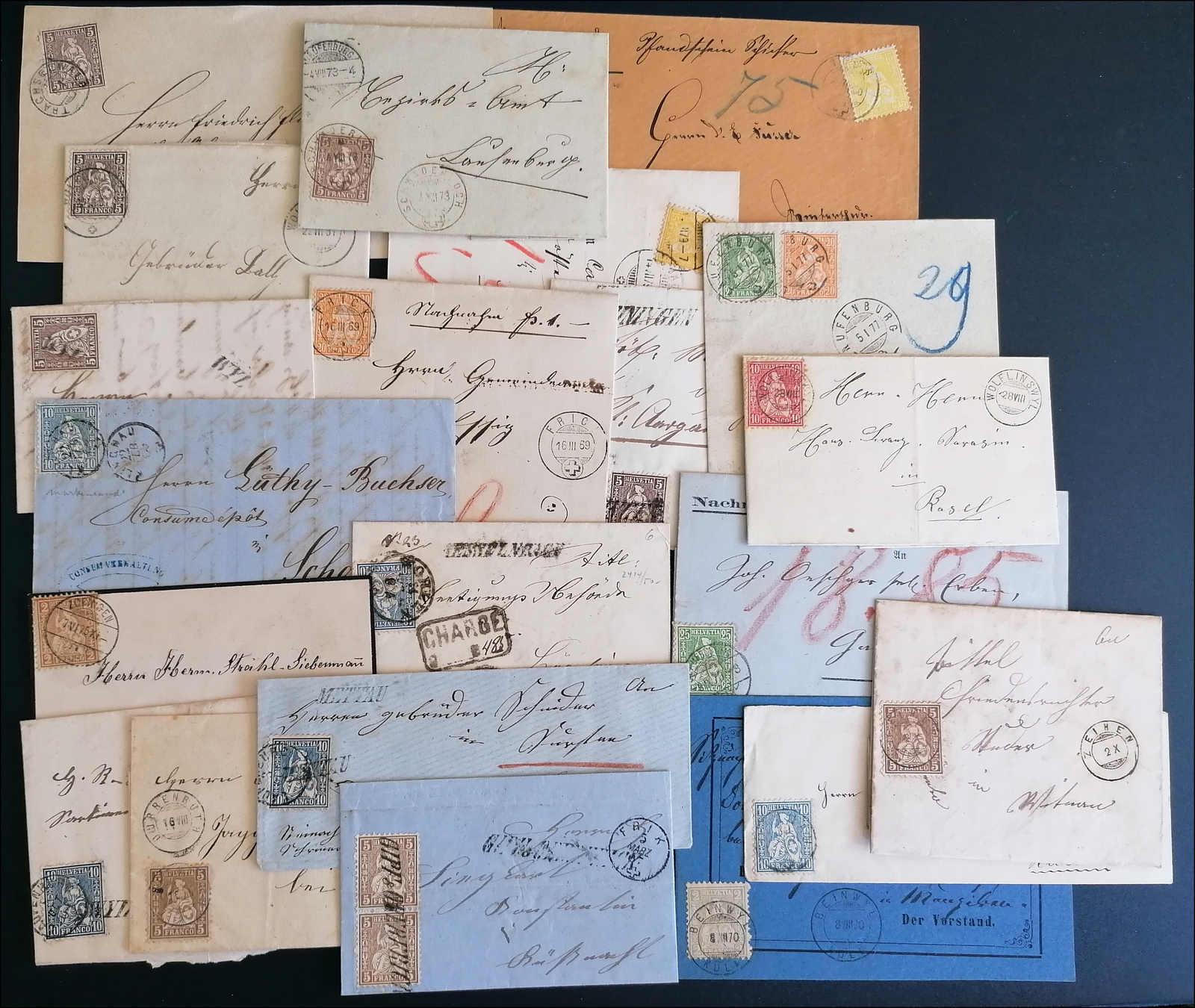 Lot 102 - schweiz Schweiz Sitzende Helvetia gezähnt -  Rolli Auctions Auction #68 Day 1
