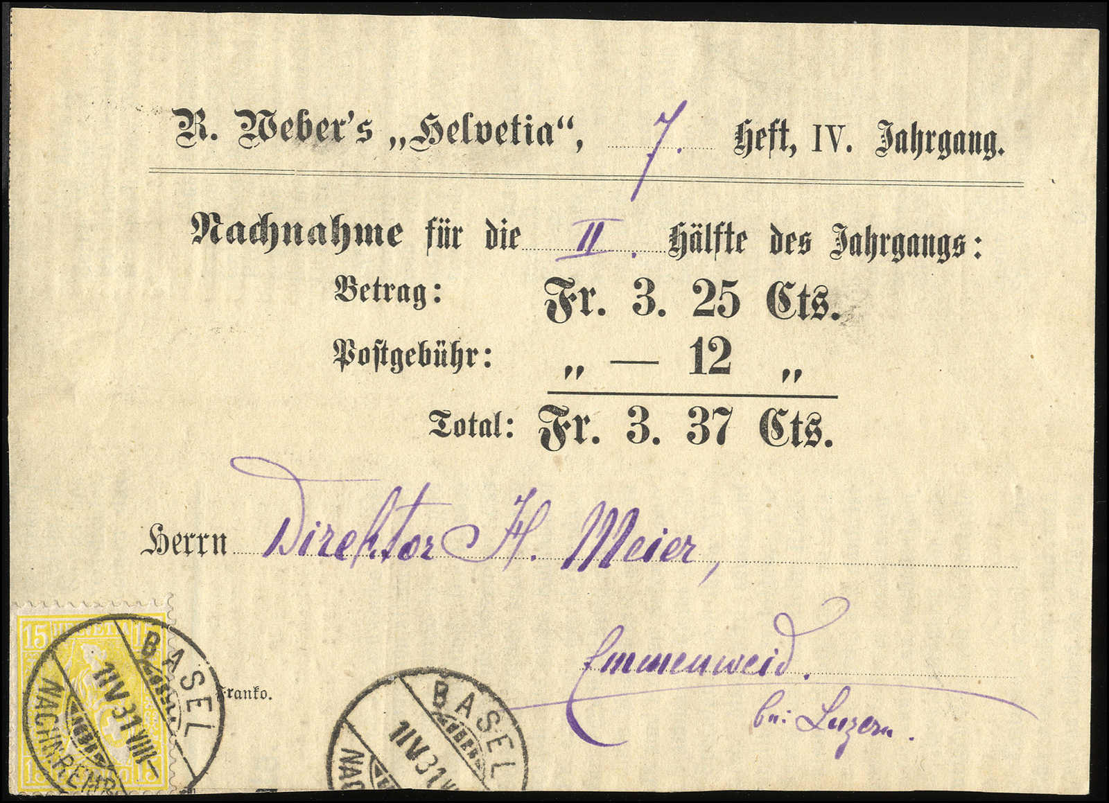 Lot 111 - schweiz Schweiz Sitzende Helvetia gezähnt -  Rolli Auctions Auction #68 Day 1