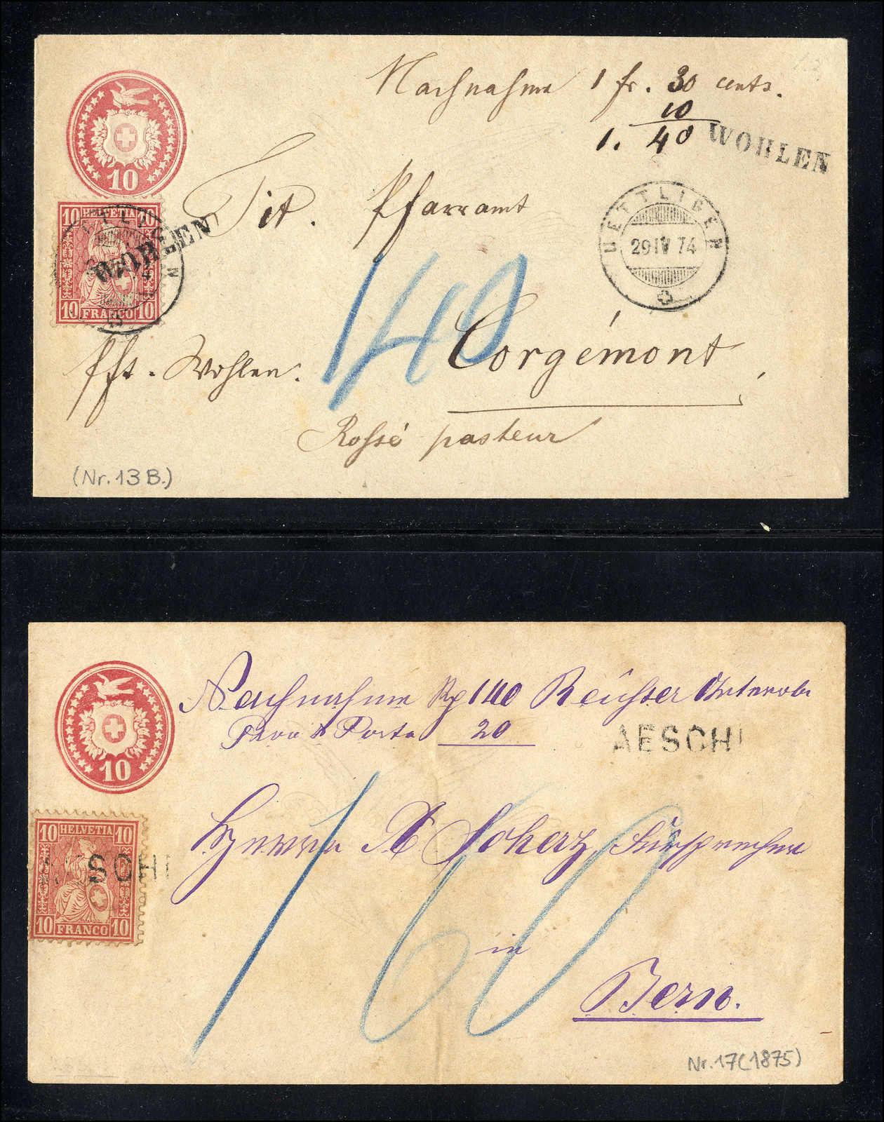 Lot 104 - schweiz Schweiz Strubel -  Rolli Auctions Auction #68 Day 1