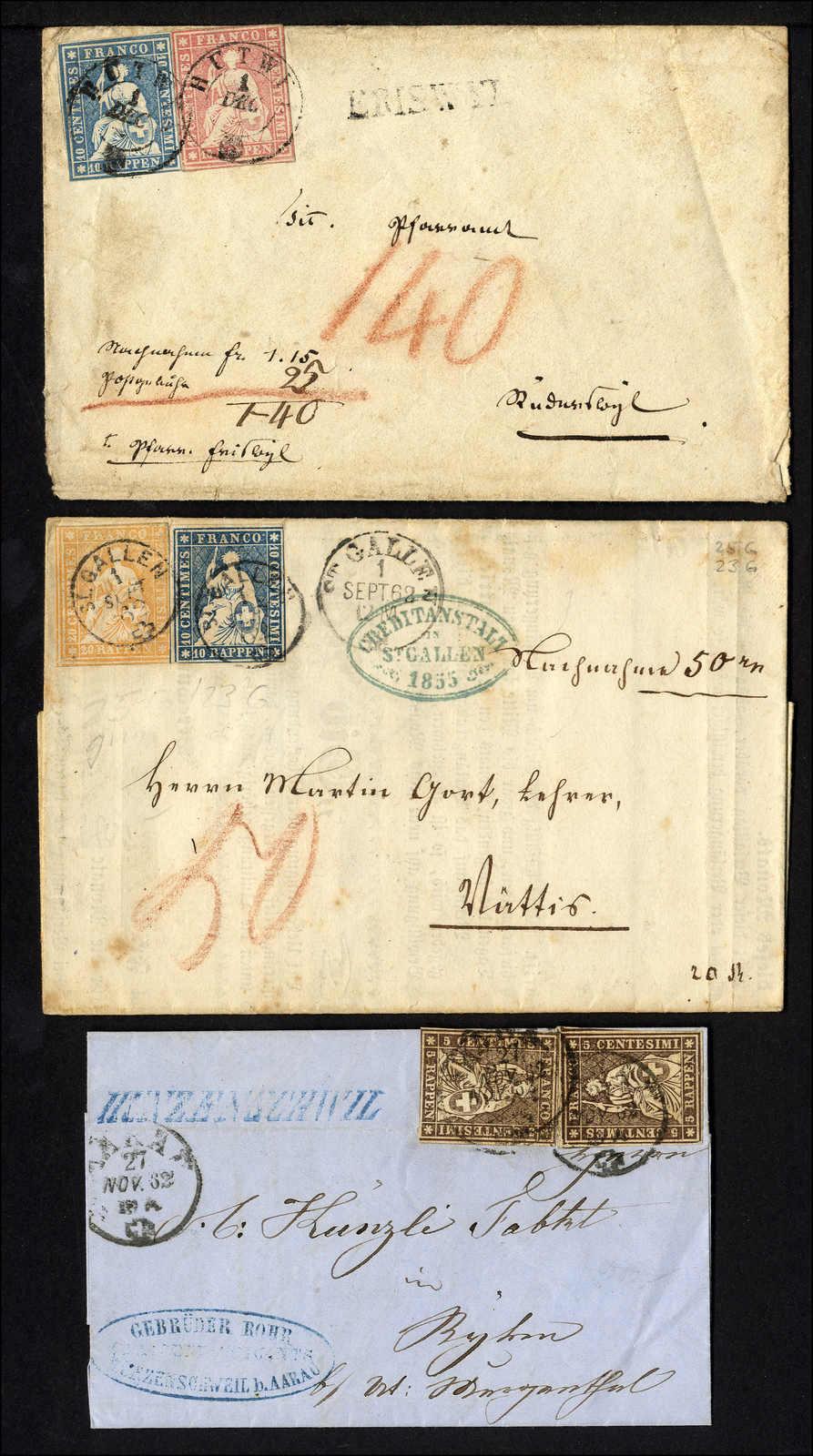 Lot 56 - sammlungen und posten sammlungen und posten altschweiz -  Rolli Auctions Auction #68 Day 1