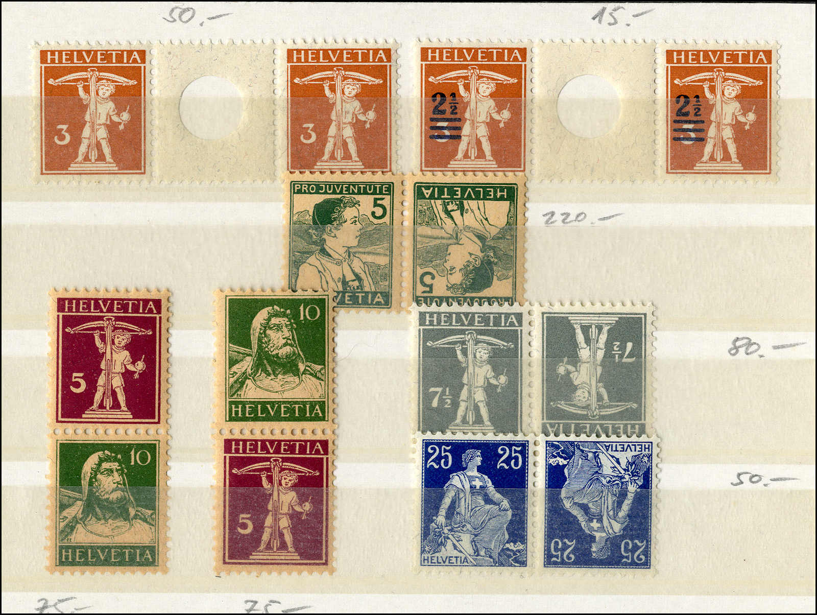 Lot 152 - schweiz Schweiz Freimarken nach 1907 -  Rolli Auctions Auction #68 Day 1