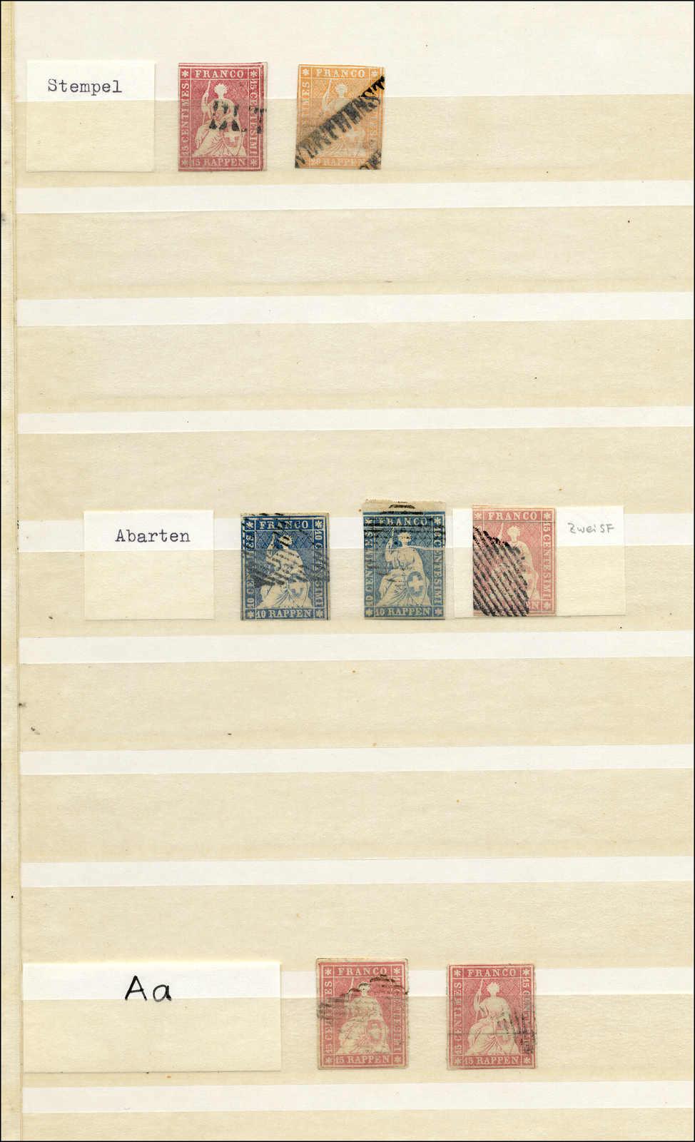 Lot 60 - sammlungen und posten sammlungen und posten altschweiz -  Rolli Auctions Auction #68 Day 1